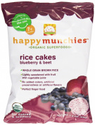 Happy Baby Happy Munchies Rice Cakes - Organic Blueberry and Beet - 40ml - Case of 10