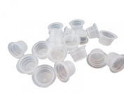 DCTattoo 1000 X Bulk Buy Pack Premium Clear Tattoo Ink Cups Caps Pots -