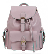 HAUTE FOR DIVA'S WOMENS CLASSIC FAUX LEATHER PLAIN BACKPACK RUCKSACK SCHOOL COLLEGE BAG