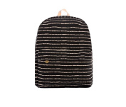 Demarkt Black and White Striped Hyun Black Canvas Bag Backpack Schoolbag Rucksack