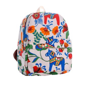 Demarkt Ethnic Flower Canvas Printing Handbag Shoulder Bag School Bag Rucksack