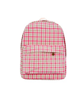 Demarkt Warm Pink Grid Backpack Shoulder Bag Handbag Printing Bag Fashion Rucksack