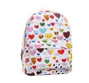 Demarkt Painted Love Cute Shoulder Bag Canvas Bag School Bag Rucksack