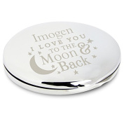 I Love You To The Moon & Back Compact Mirror ~ Personalised Gift For Her, Valentine's Day, Mother's Day, Birthday