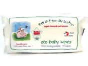 Earth Friendly Baby Organic Chamomile and Calendula Eco Baby Wipes - 72 Wipes