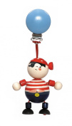 Hess Wooden Baby Toy Figurine Chain Pirate Clip On