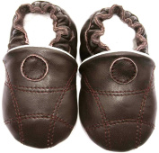 baby soft leather shoes, Jinwood - soccer brown