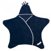 Tuppence and Crumble Star Baby Wrap Navy Medium
