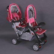 Exclusive Tandem - Twin Pram rose - BambinoWorld