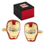 MARVEL Avengers Iron Man Superhero Helmet Cufflinks - Cuff Links Includes Marvel Comics Gift Box