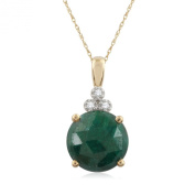 Pave Prive 18ct Yellow Gold with Green Corundum Drop Pendant on Chain 46cm