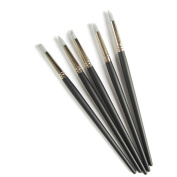 Kbsing Set of 5 Flexible Silicone Clay Sculpture Colour Shapers Tools Brushes