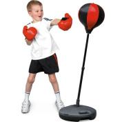 Mr.Caller JUNIOR BOXING SET KIDS PUNCH BAG BALL & MITTS GLOVES KIT CHILDREN FREE STANDING 80cm - 110cm