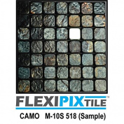 FLEXIPIXTILE, Sample, Aluminium Mosaic Tile, Peel & Stick, Kitchen Backsplash, Accent Wall, CAMO