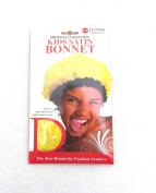 Donna Kids Satin Bonnets - Yellow