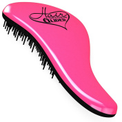 Detangling Brush Pink Hair Brush For Women Best Detangler for Adults and Kids - HAIR GLIDER