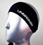 "Bondi Band ""Unbroken"" Moisture Wicking Headband, One Size, Black"