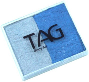 Tag Split-Cake 50g 2c Pearl Blue & Pearl Silver
