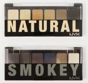 "NYX The Natural / Smokey Shadow Palette - "" TNS01 + TSS01 """