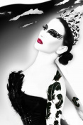 Xotic Eyes Dark Swan Glitter Professional Eye Make up Costume Accessory