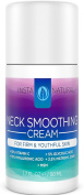 Neck Smoothing Cream - Firming and Tightening Lotion to Lift Sagging Skin - Best Moisturiser Creme for Wrinkles & Fine Lines - With Vitamin C, Glycolic Acid & Hyaluronic Acid - InstaNatural - 50ml