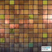 FLEXIPIXTILE, Modern Aluminium Mosaic Tile, Peel & Stick, Backsplash,Accent Wall,0.09sqm,WOODIE