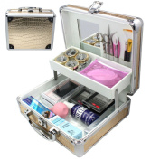 Holiday Gift! FEDEX Shipping from CA, USA. Deluxe Gold Case 25 in 1 Professional Eyelash Extension Mink False Eye Lash Lashes Glue Removal Mascara Full Kit Super Set with Fashion Gold Hard Box Suitcase A158