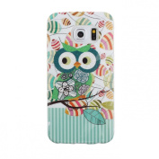 Sannysis Big Eyes Colourful Owl Rubber Soft TPU Case Skin Cover For Samsung Galaxy S6 Edge