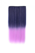 OneDor® 60cm Straight 3/4 Full Head Synthetic Hair Extensions Clip on Hairpieces