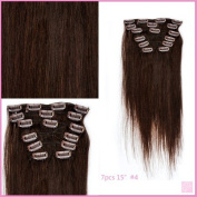 Clip in 38cm 7pcs STW Clip in Hair Extensions Silky Straight 7pcs Set 70grm with 16 Clips 100% Remy Human Hair Top Quality Full Head Clip on Hair Mike & Mary®