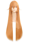 """Anogol® Vocaloid 32"""" 80cm Long Straight Wigs Lolita Orange Cosplay Wig Kanekalon Costume Party Wigs for Halloween"""