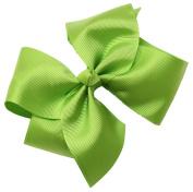Webb Direct 2U Girls Extra Lg GrosGrain Bow Alligator Clip Lime Green