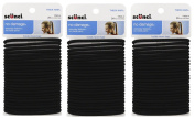 Scunci Effortless Beauty Thick Hair No-damage Black Elastics, 5 Mm, 72-Count