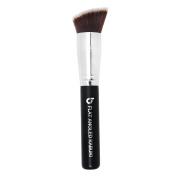 Bronzer Brush Flat Angled Kabuki Makeup Brush - Premium Synthetic Contouring with Powder, Cream, Mineral Cosmetics