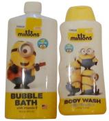Kids Minions Bubble Bath and Body Wash Set