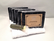 Vivo Per Lei Dead Sea Mud Soap (Pack of 6) with a Certified Organic Jarosa Beauty Bee Organic Peppermint Lip Balm and a New Utopia Washcloth
