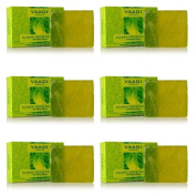 "6 x Vaadi Herbals Anti Ageing Alluring Neem & Tulsi Soap 75g- Pack of 6 - ""Expedited International Delivery by USPS / FedEx """