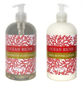 Ocean Riche Hand & Body Lotion and Ocean Riche Hand Soap Duo Set 470ml each by Greenwich Bay Trading Co.