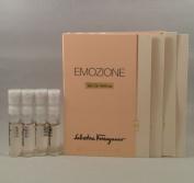4 Salvatore Ferragamo Emozione EDP Spray Sample Vial 1.5 Ml/.05 Oz Lot
