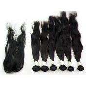 Natural Colour 210g/pack Natural Wave Virgin Peruvian Hair Weaving Extension 46cm 50cm 60cm w/ 1pc Top Lace Closure