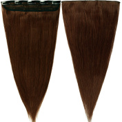 50cm 55g Medium Brown One Piece 5 Clips 3/4 Full Head Clip in 100% Real Remy Human Hair Extensions