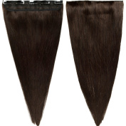 60cm 55g Dark Brown One Piece 5 Clips 3/4 Full Head Clip in 100% Real Remy Human Hair Extensions
