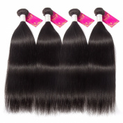Shacos Yaki Straight Natural Black Brazilian Unprocessed Virgin Hair Human Hair Bundles Thicker and Full Head Double Hair Weft 130 Density Grade 7Aft 130 Density Grade 7A