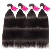 Shacos Yaki Straight Natural Black Brazilian Unprocessed Virgin Hair Human Hair Bundles Thicker and Full Head Double Hair Weft 130 Density Grade 7Aft 130 Density Grade 7A