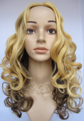 Liaohan® Fashion Ombre Wig Full Head Curly Wig Two Tone Gradient Wig Hair Synthetic Wigs for Women