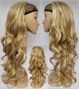 Liaohan® 3/4 Half Wig Hair Fall Long Curly Wig Fall Highlights Hair Wig Fall Curly Hair Wigs for Women 27H613 Brown Blonde Wig