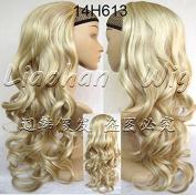 Liaohan® 3/4 Half Wig Hair Fall Long Curly Wig Fall Highlights Hair Wig Fall Curly Hair Wigs for Women 14H613 Brown Blonde Wig