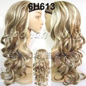 Liaohan® 3/4 Half Wig Hair Fall Long Curly Wig Fall Highlights Hair Wig Fall Curly Hair Wigs for Women 6H613 Brown Blonde Wig