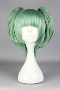 springcos Assassination Classroom Kayano Kaede Cosplay Wig Green + 2 Ponytails