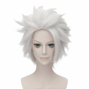 Anogol® Free Hair Cap+ Short Layered Silver White Bleach Cosplay Wig Hitsugaya Toushirou DM-509
